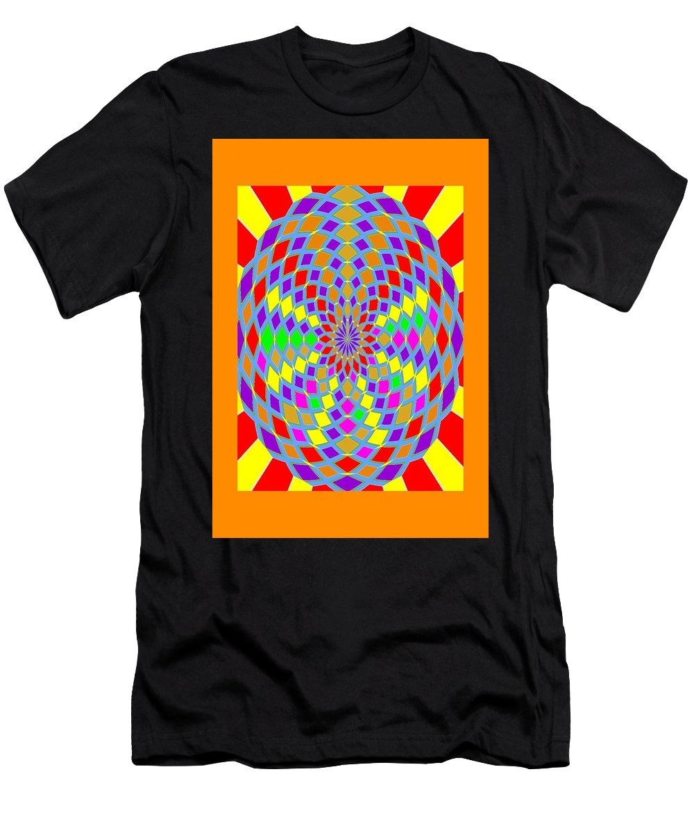 Coloured Ovals Men's T-Shirt (Athletic Fit) featuring the digital art Coloured Ovals by John Haines