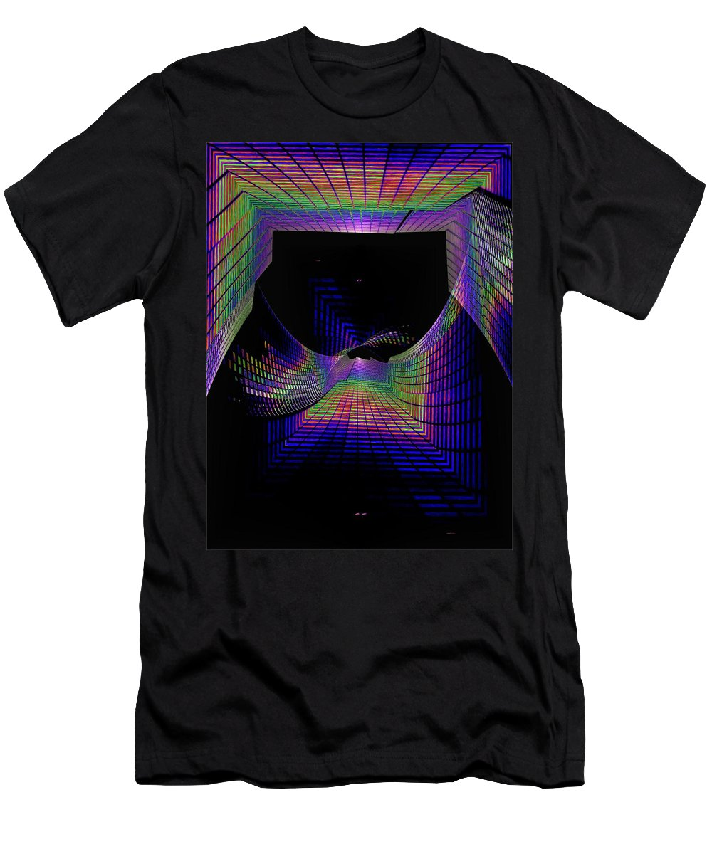 Seattle Men's T-Shirt (Athletic Fit) featuring the digital art Columbia Tower Vortex by Tim Allen