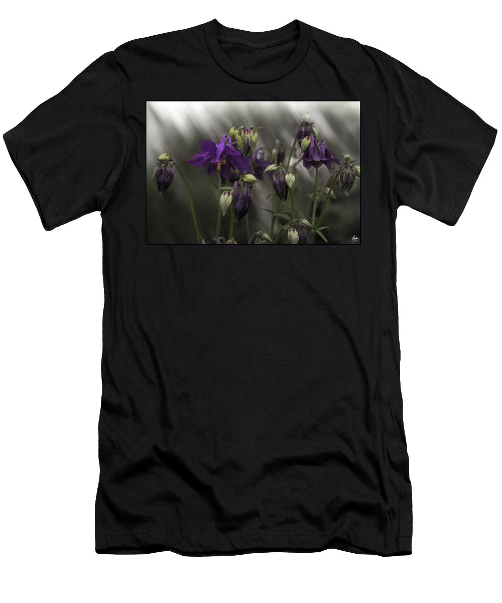 Columbine Men's T-Shirt (Athletic Fit) featuring the photograph Columbine Mindscape by Wayne King