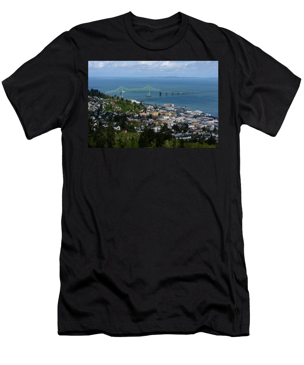 Astoria Men's T-Shirt (Athletic Fit) featuring the photograph Column View by Robert Potts