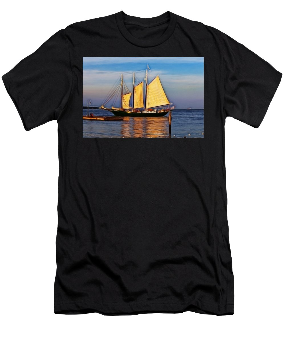 Alliance Men's T-Shirt (Athletic Fit) featuring the photograph Come Sail Away by Amy Jackson