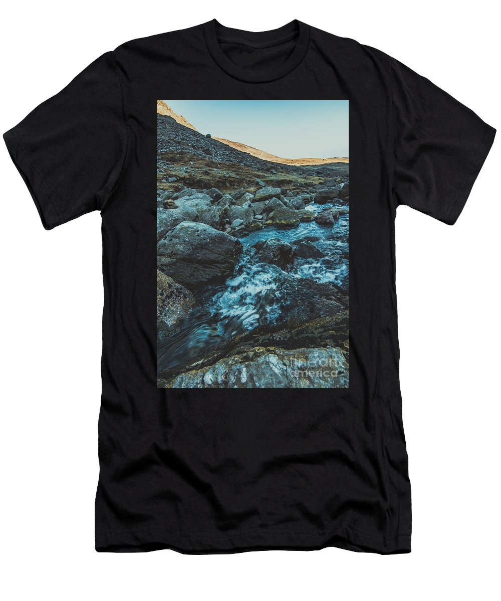 Men's T-Shirt (Athletic Fit) featuring the photograph Comeragh River by Marc Daly