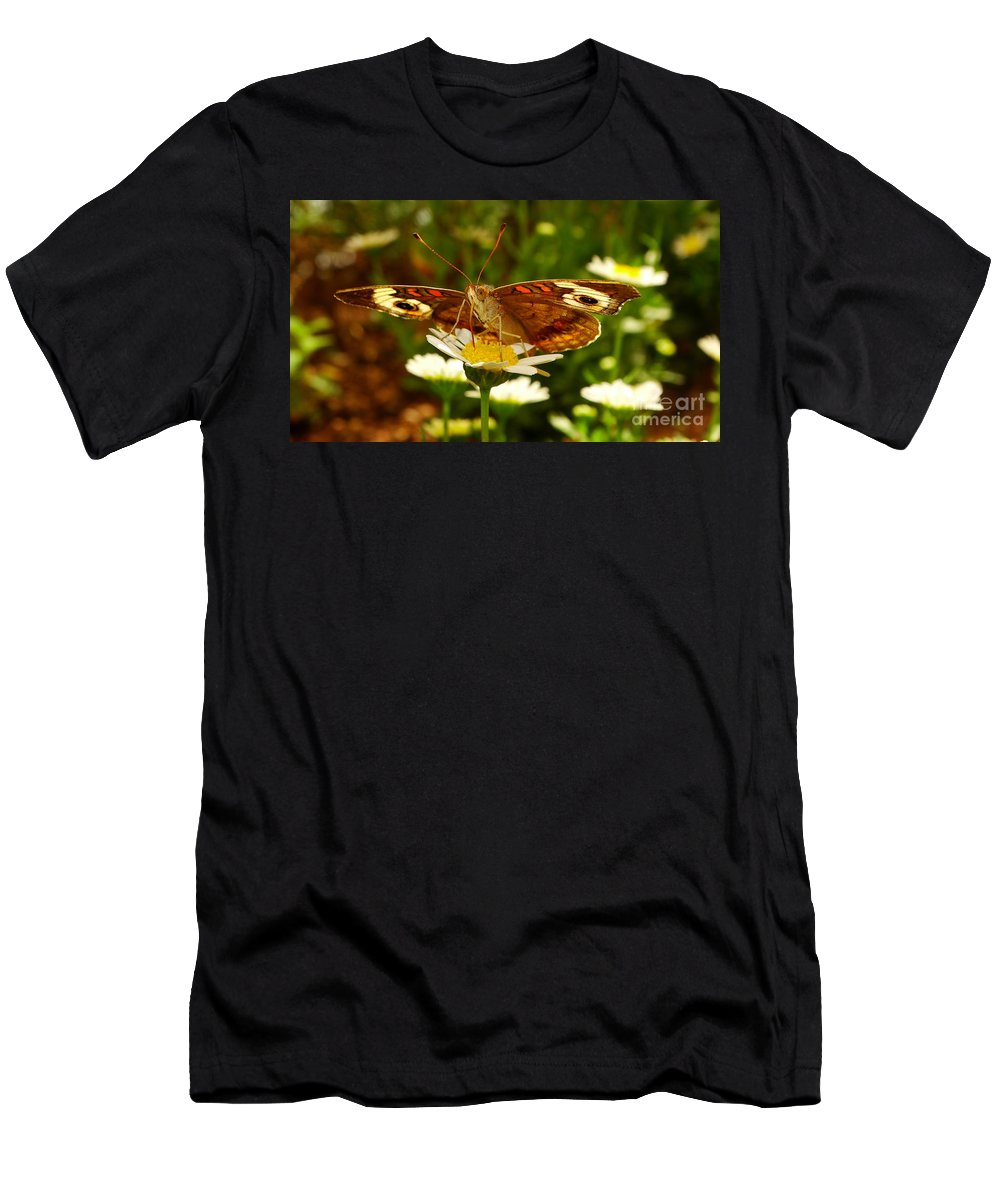 Common Men's T-Shirt (Athletic Fit) featuring the photograph Common Buckeye by Brian Warnke