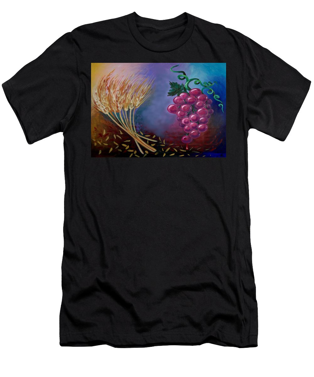 Communion Men's T-Shirt (Athletic Fit) featuring the painting Communion by Kevin Middleton