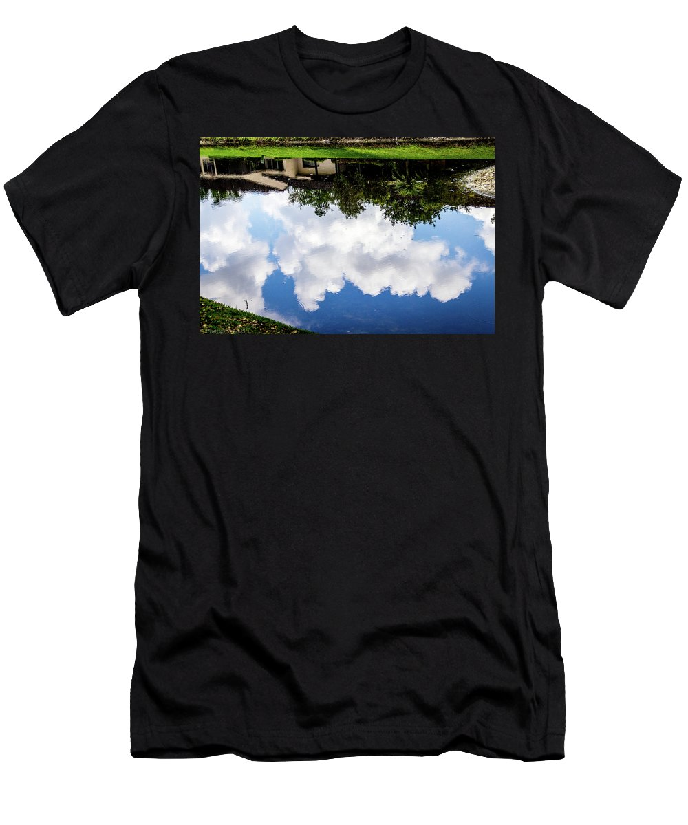 Background Men's T-Shirt (Athletic Fit) featuring the photograph Community Reflections by Gregory Gendusa