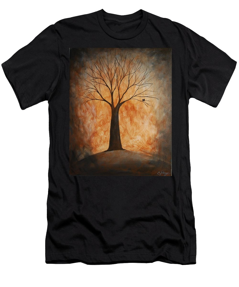 Tree Men's T-Shirt (Athletic Fit) featuring the painting Companionship by Emily Page