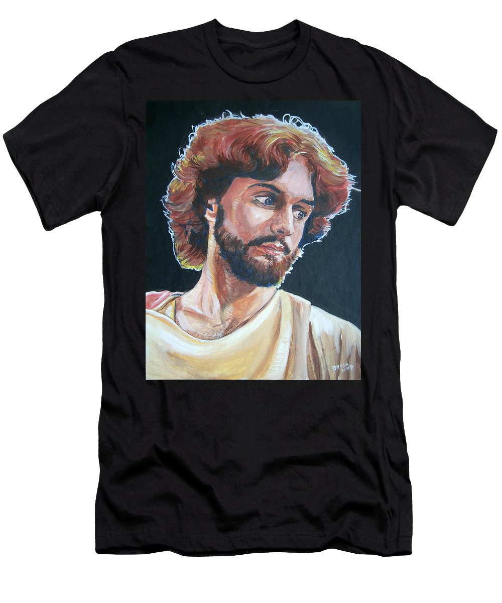 Jesus Christ Men's T-Shirt (Athletic Fit) featuring the painting Compassionate Christ by Bryan Bustard