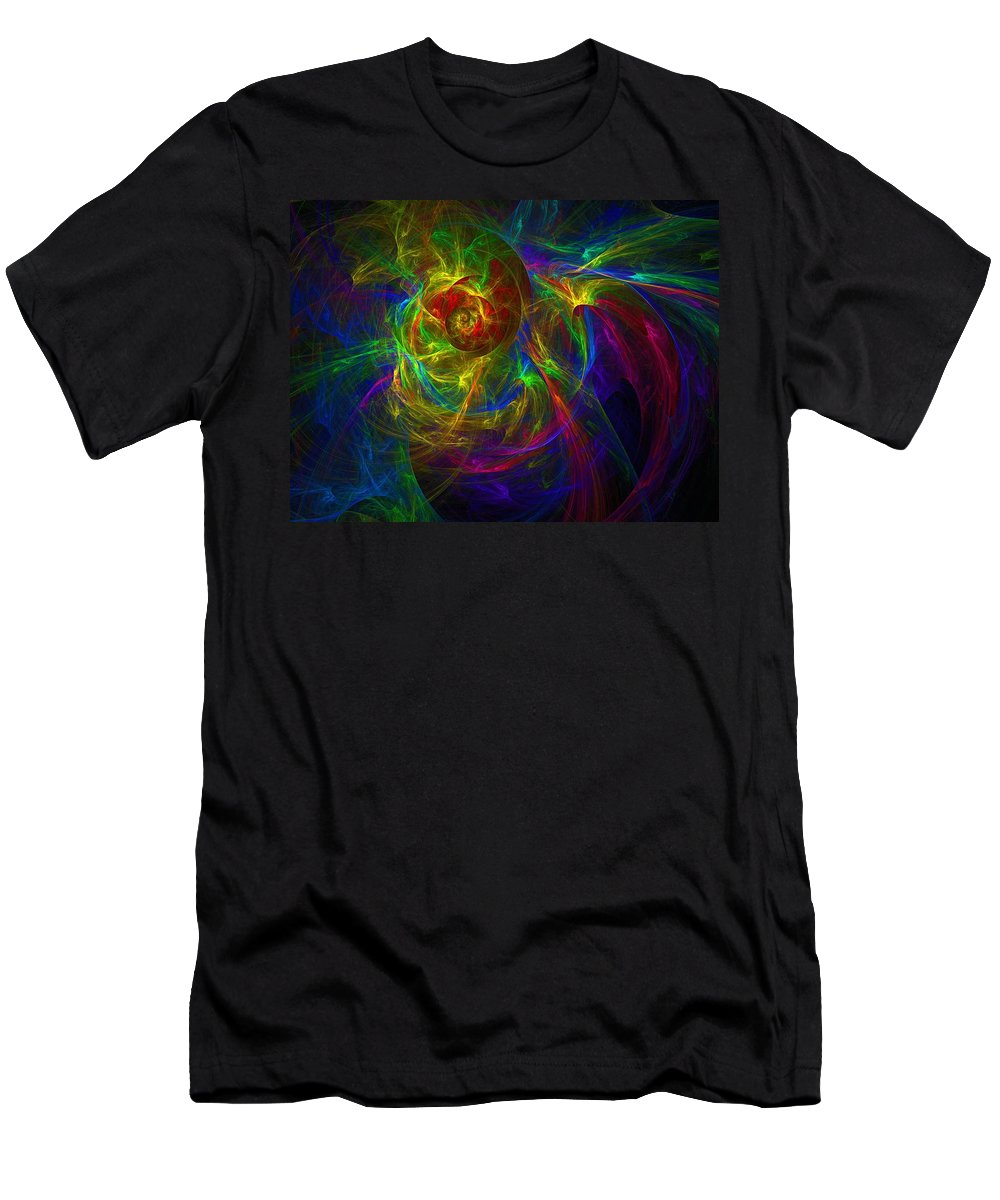 Abstract Men's T-Shirt (Athletic Fit) featuring the digital art Conceptual Alchemy by Lyle Hatch