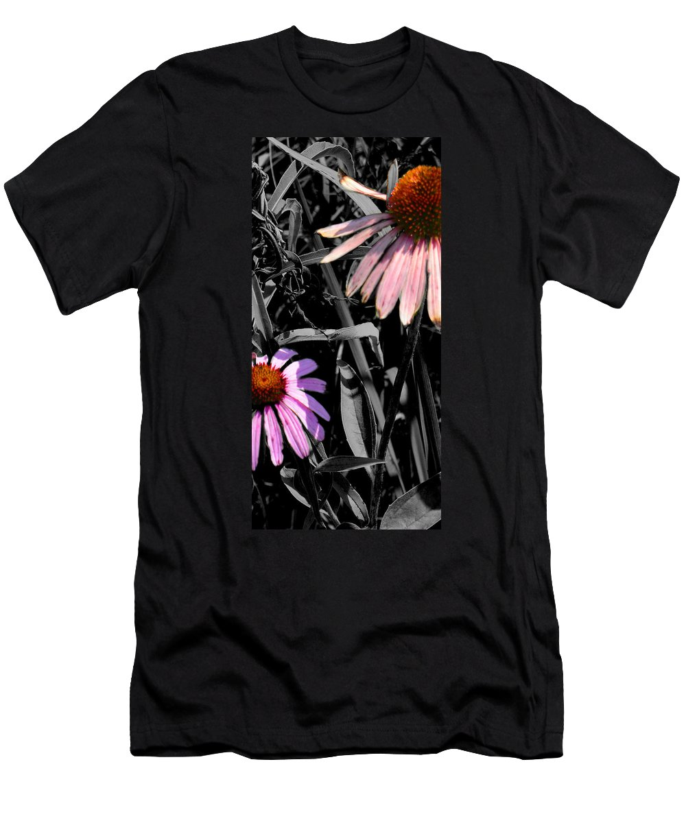Purple Cone Flower Men's T-Shirt (Athletic Fit) featuring the photograph Cone Flower Tapestry by Steve Karol