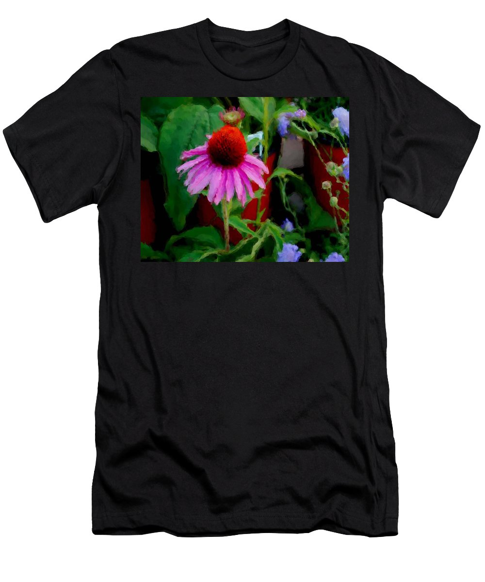 Sunflowers Men's T-Shirt (Athletic Fit) featuring the painting Coneflower by Michael Thomas