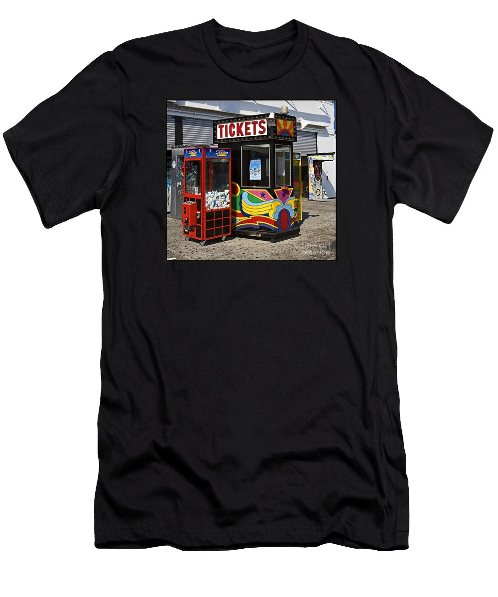 Coney Island Men's T-Shirt (Athletic Fit) featuring the photograph Coney Island Memories 3 by Madeline Ellis
