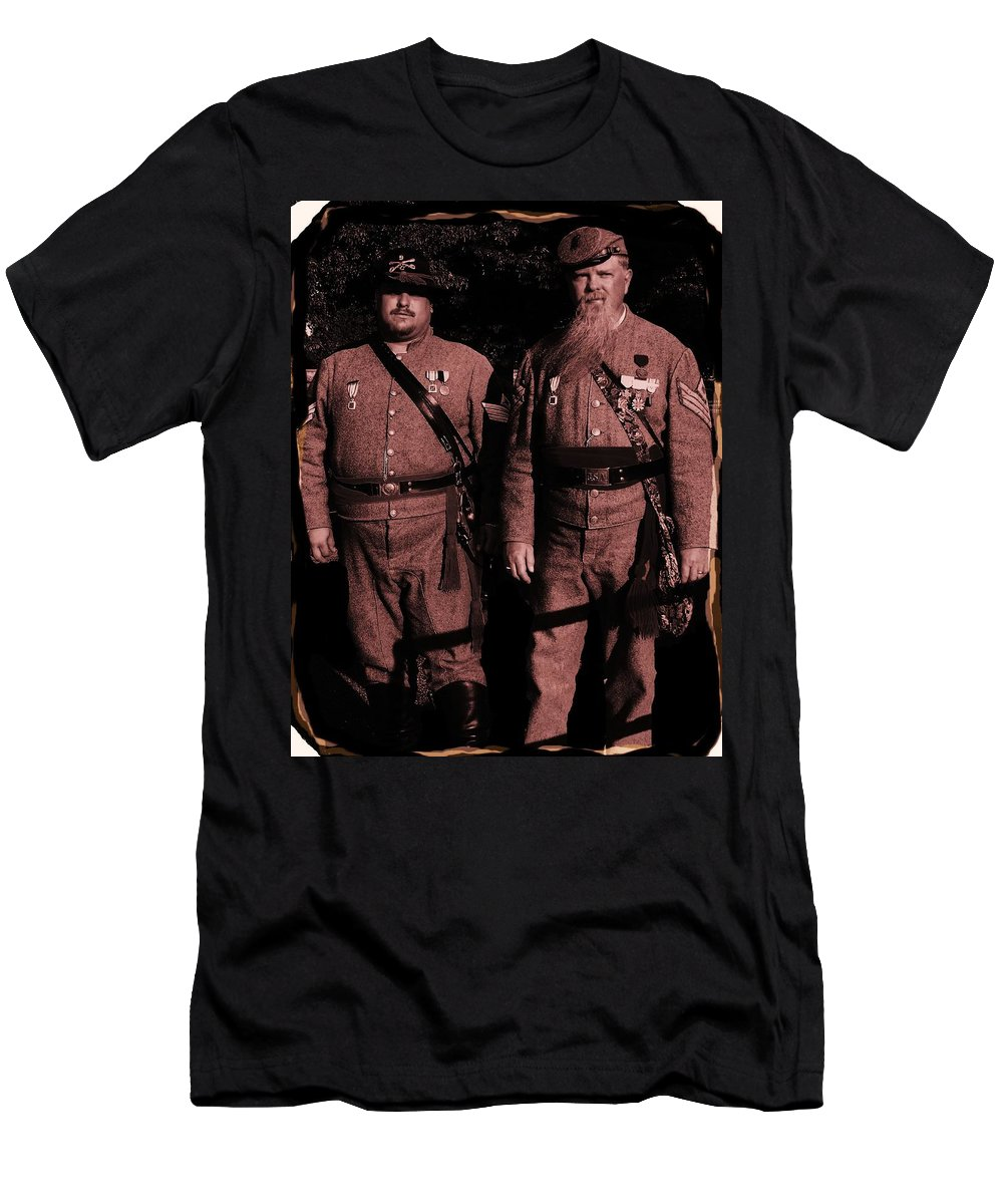 Tintype Men's T-Shirt (Athletic Fit) featuring the photograph Confederate Tintype Civil War by Eric Schiabor