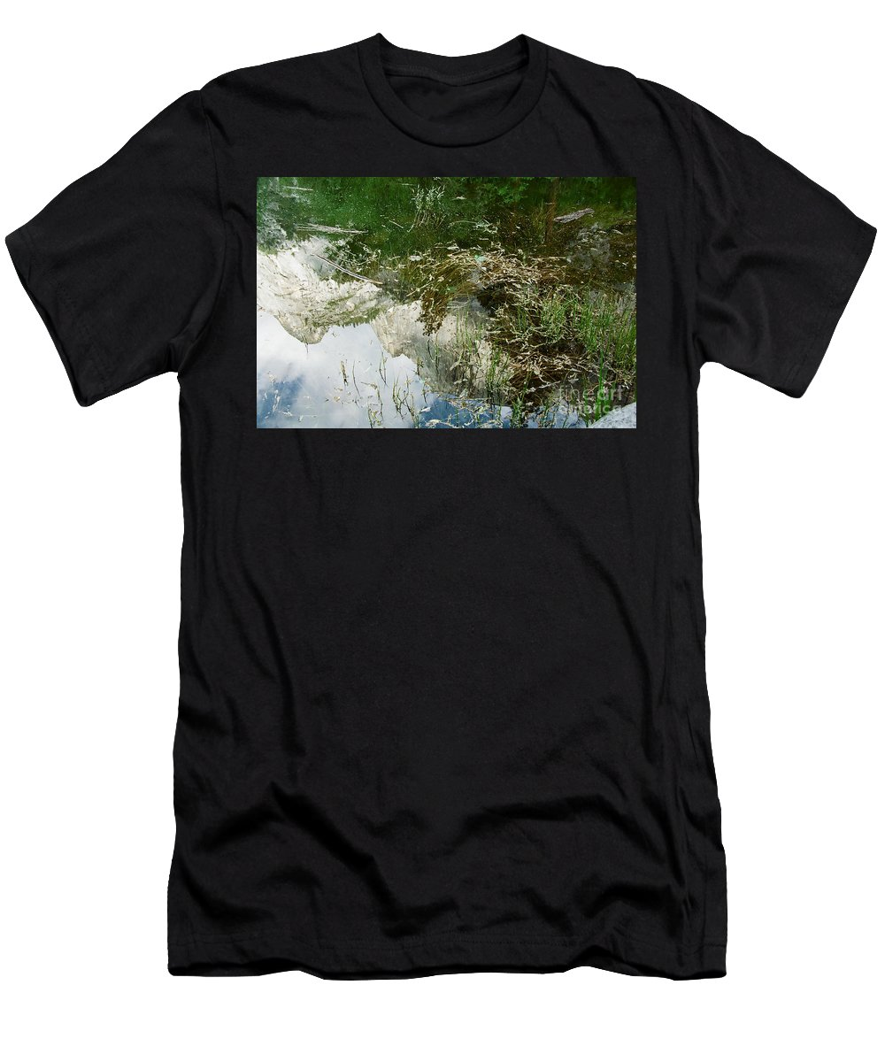 Mirror Lake Men's T-Shirt (Athletic Fit) featuring the photograph Confusion by Kathy McClure