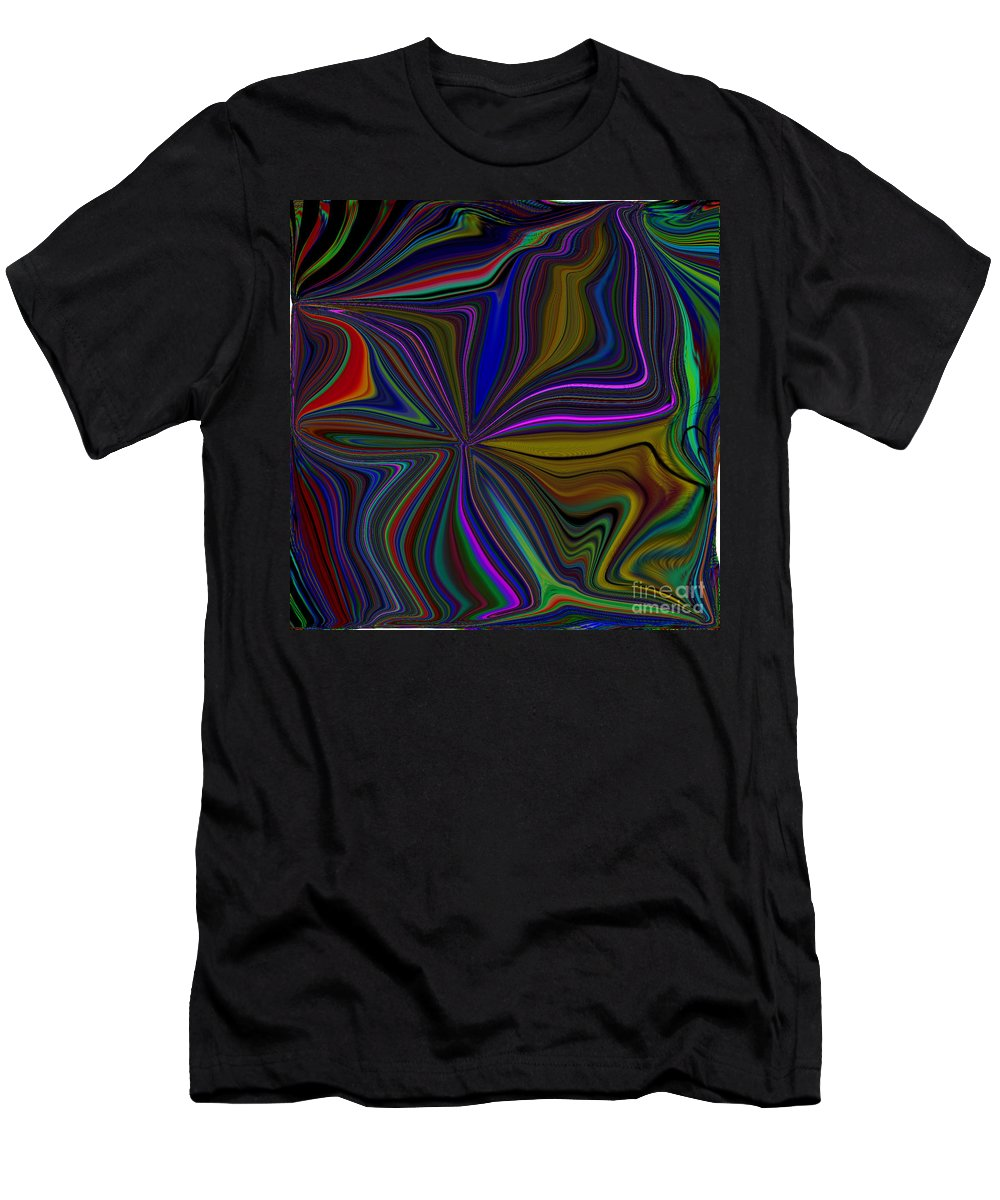 Color Men's T-Shirt (Athletic Fit) featuring the digital art Conglomerate Of The Color Wheel by Debra Lynch