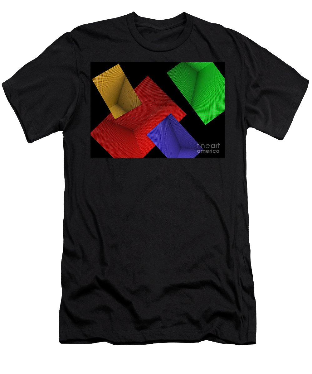 Abstract Men's T-Shirt (Athletic Fit) featuring the photograph Connect Or Disconnect by Carol Groenen