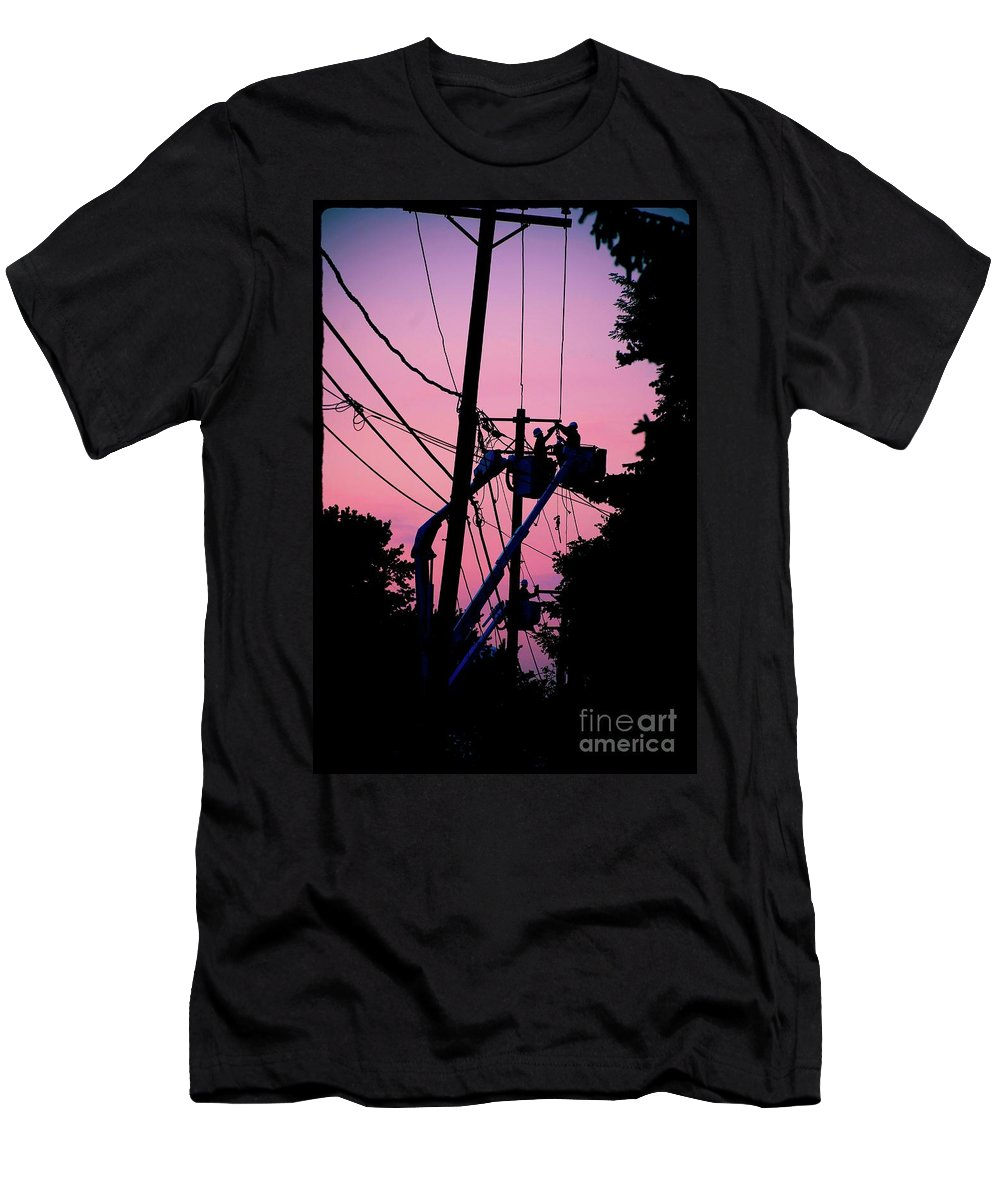 Photography T-Shirt featuring the photograph Connections by Frank J Casella