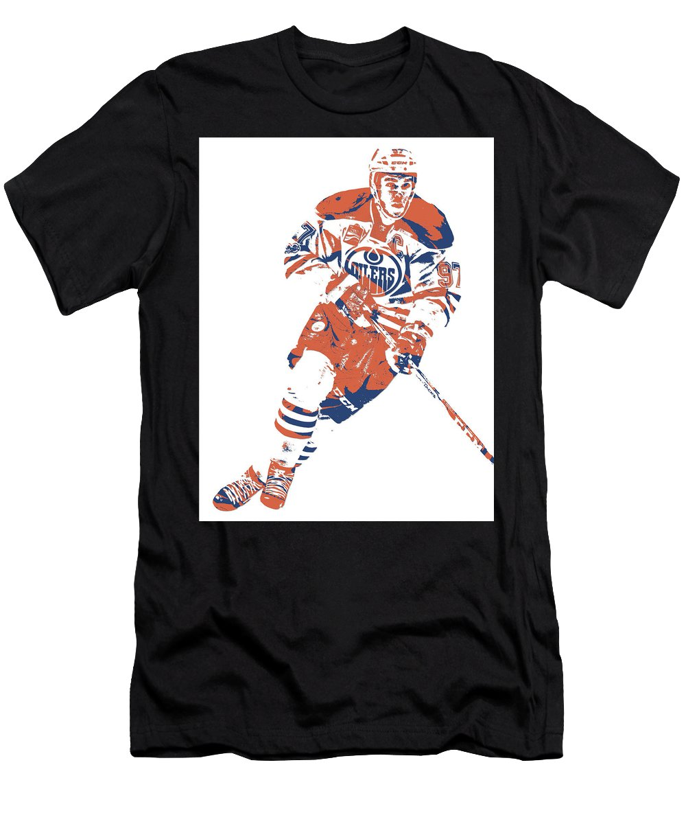 464bc19c4d107 Connor Mcdavid Men's T-Shirt (Athletic Fit) featuring the mixed media  Connor Mcdavid