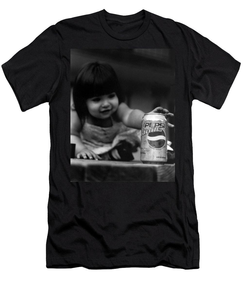 Dark Art Men's T-Shirt (Athletic Fit) featuring the photograph Consumer by Peter Piatt