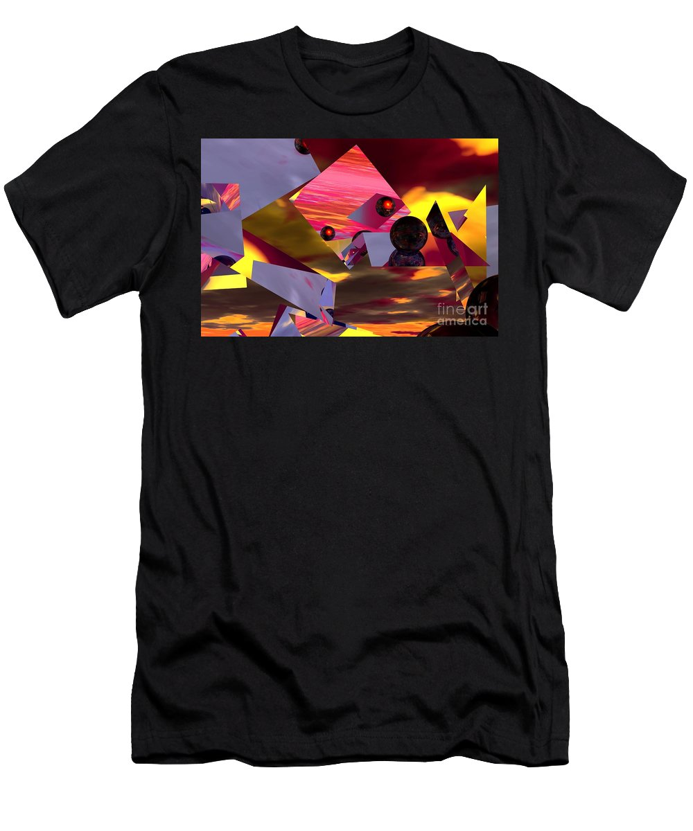 Men's T-Shirt (Athletic Fit) featuring the digital art Contemplating The Multiverse. by David Lane