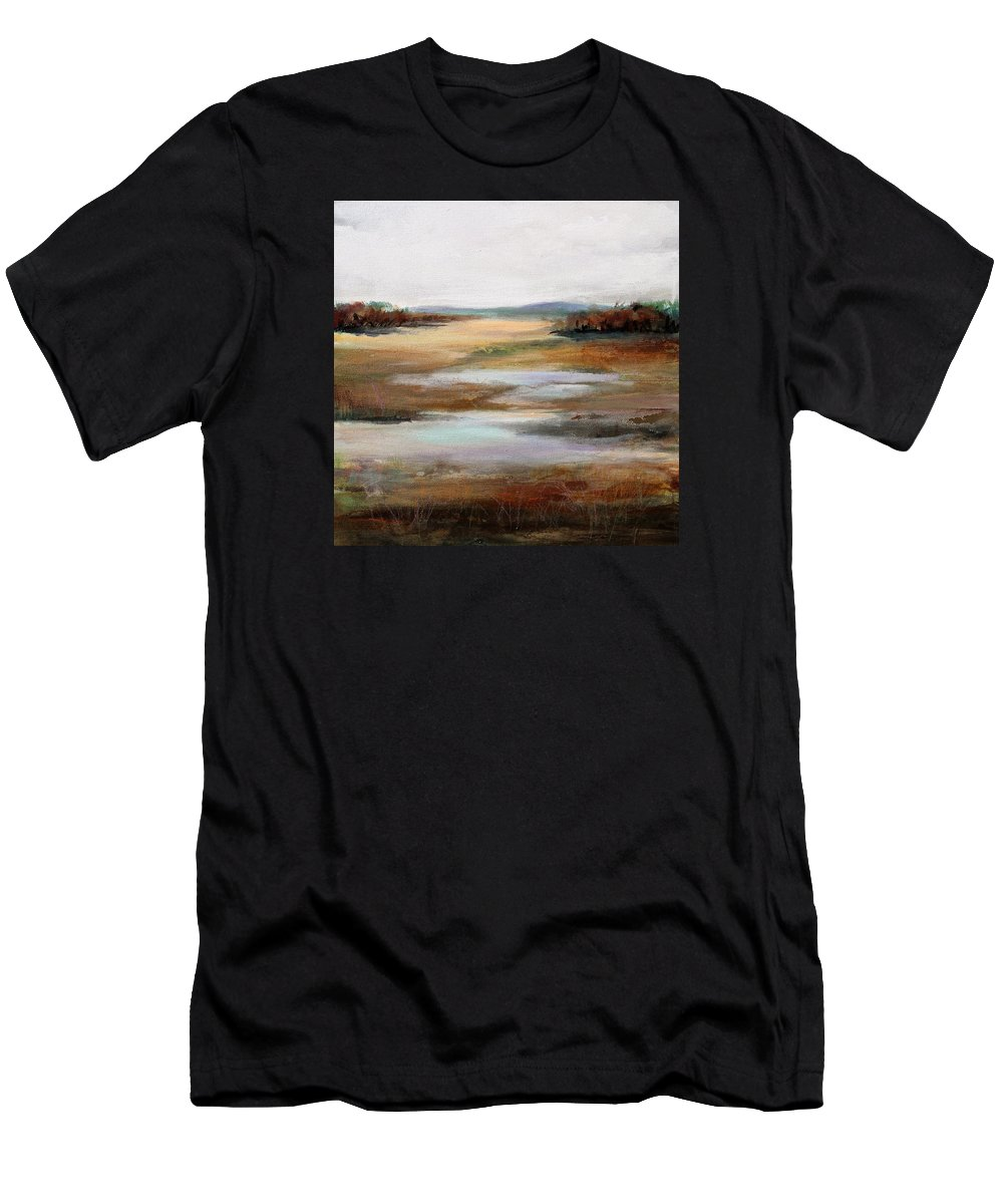 Modern Men's T-Shirt (Athletic Fit) featuring the painting Contemplation by Karen Hale