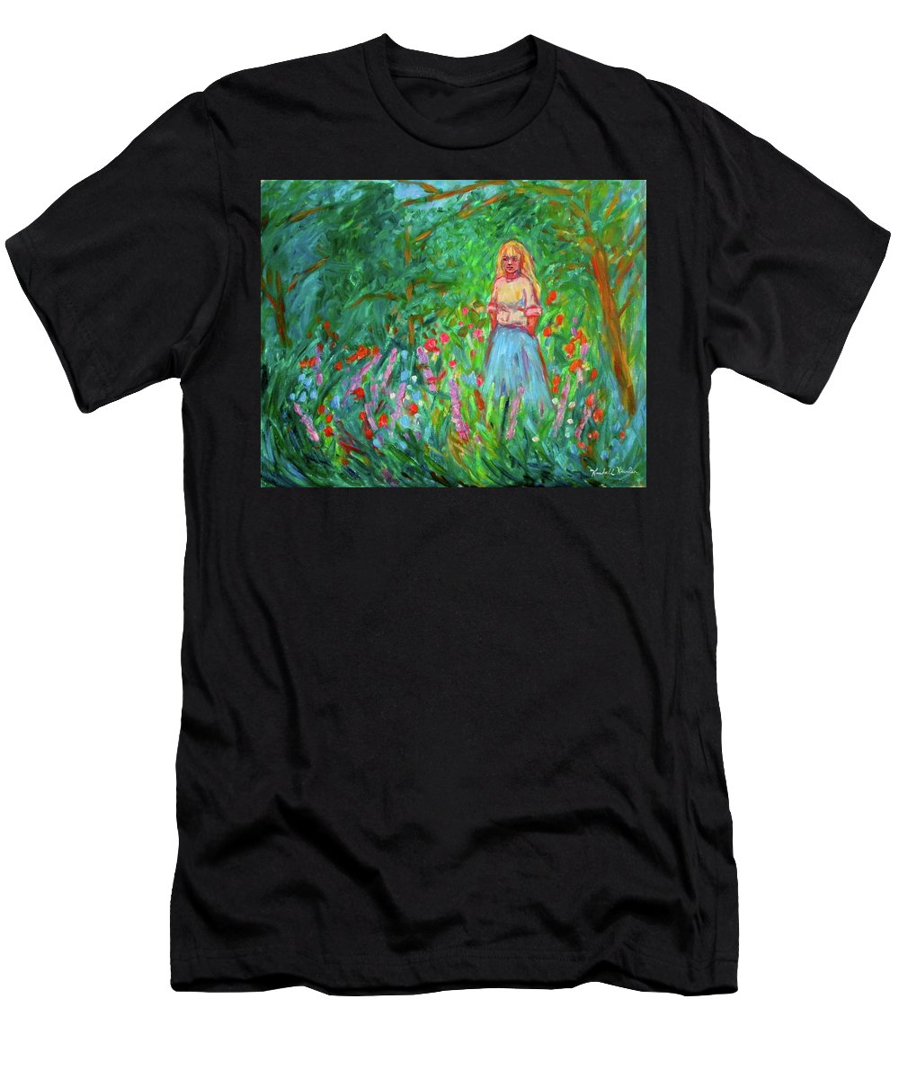 Landscape Men's T-Shirt (Athletic Fit) featuring the painting Contemplation by Kendall Kessler