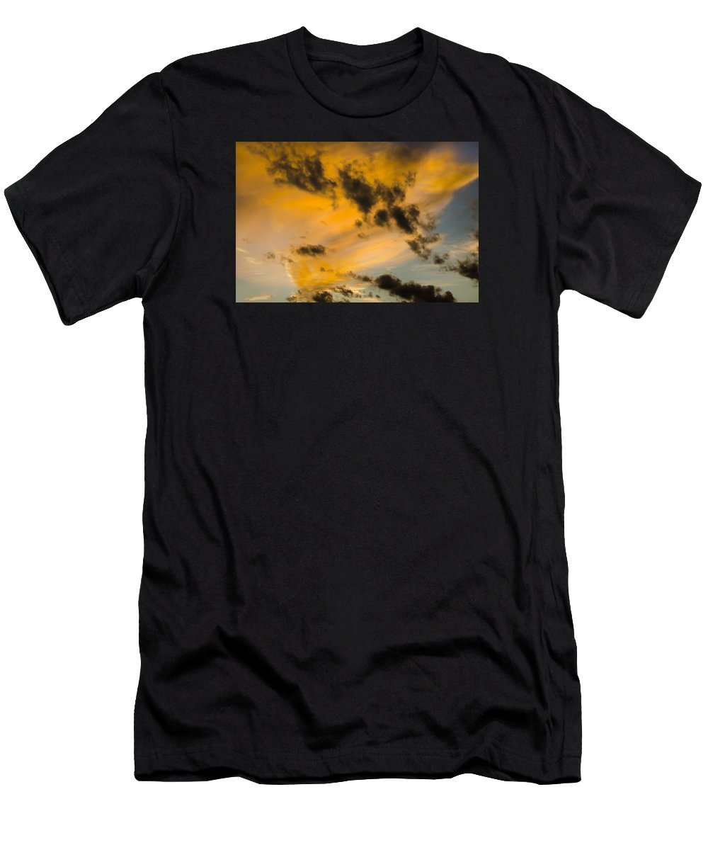 Sky Men's T-Shirt (Athletic Fit) featuring the photograph Contrasts by Wanda Krack