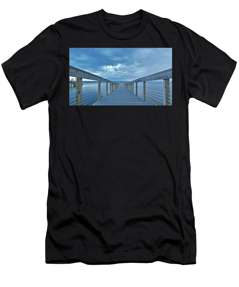 Outer Banks Men's T-Shirt (Athletic Fit) featuring the photograph Cooling Sunset by Sean Paul Ballentine