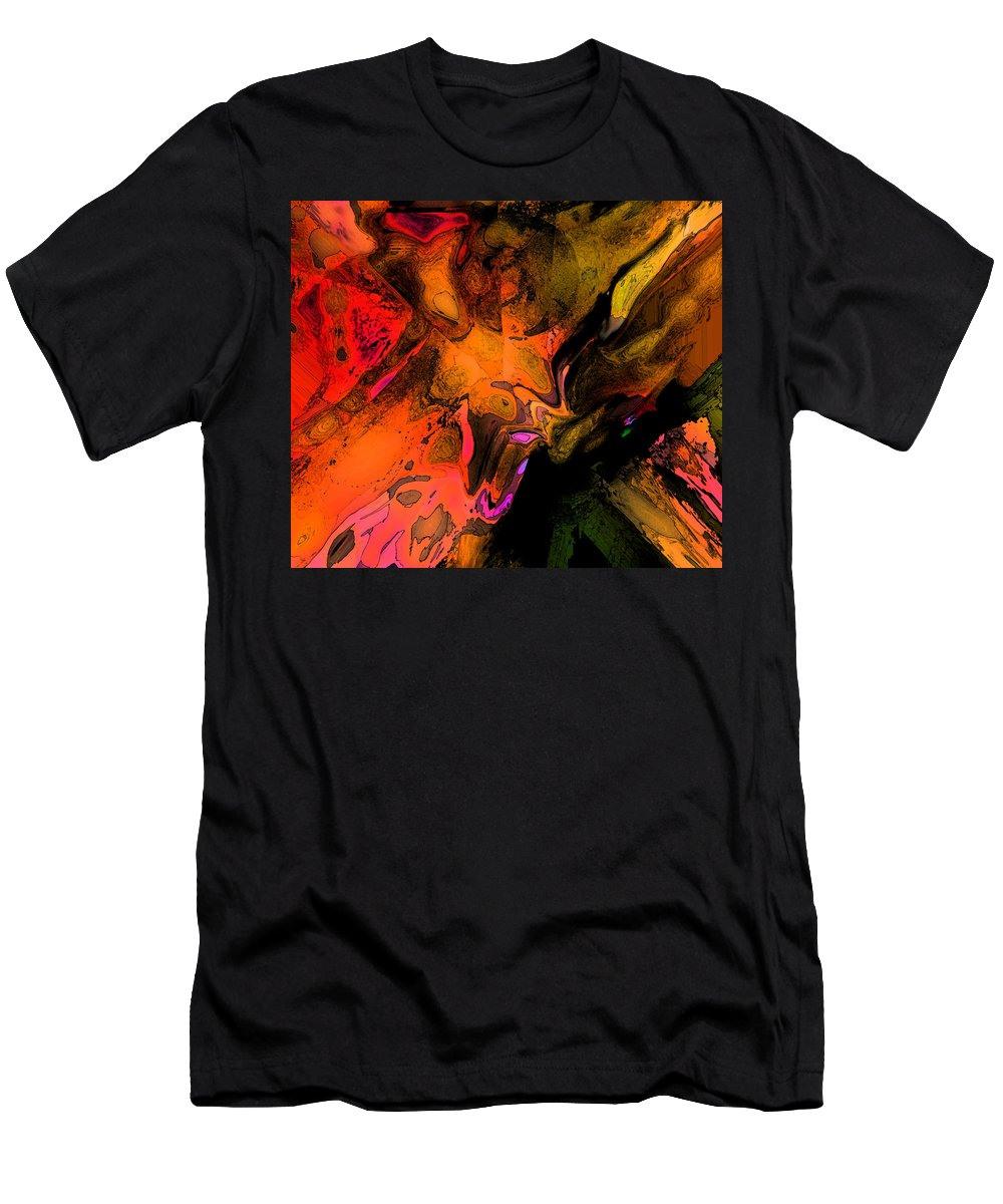 Abstract Men's T-Shirt (Athletic Fit) featuring the digital art Copper Smelter by Ian MacDonald