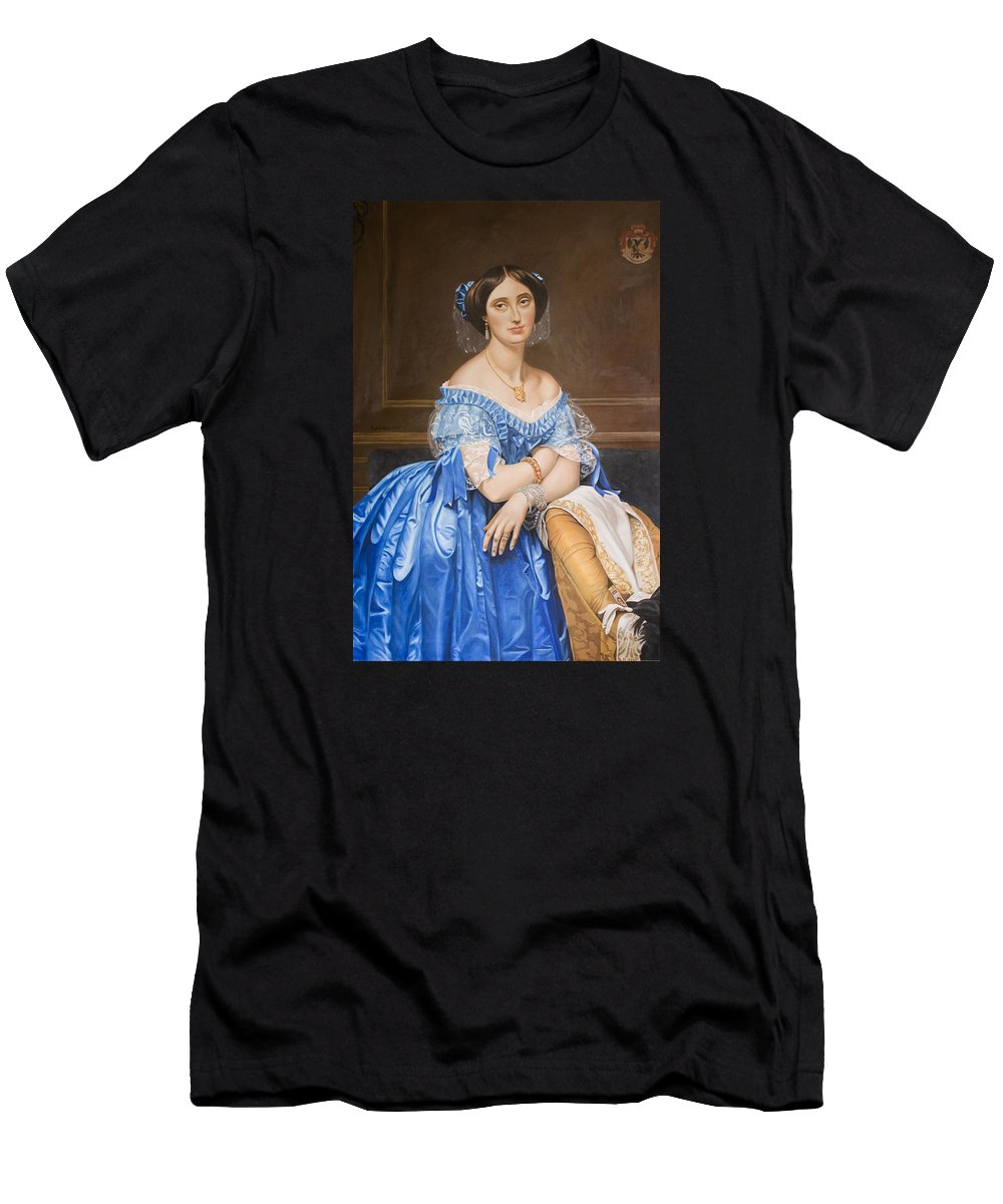 Ingres Men's T-Shirt (Athletic Fit) featuring the painting Copy After Ingres by Rob De Vries