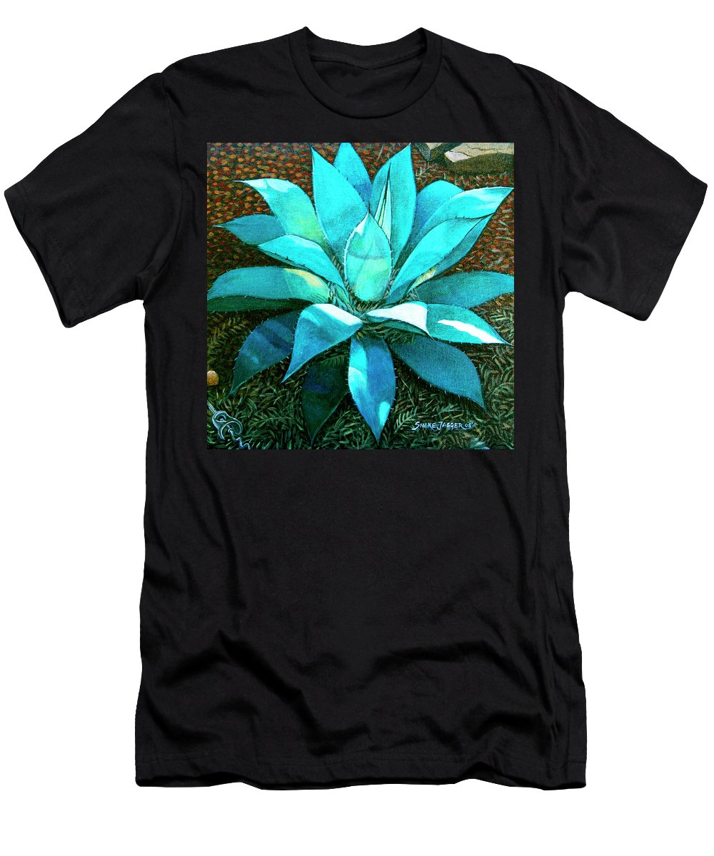 Cactus T-Shirt featuring the painting Corkscrew by Snake Jagger