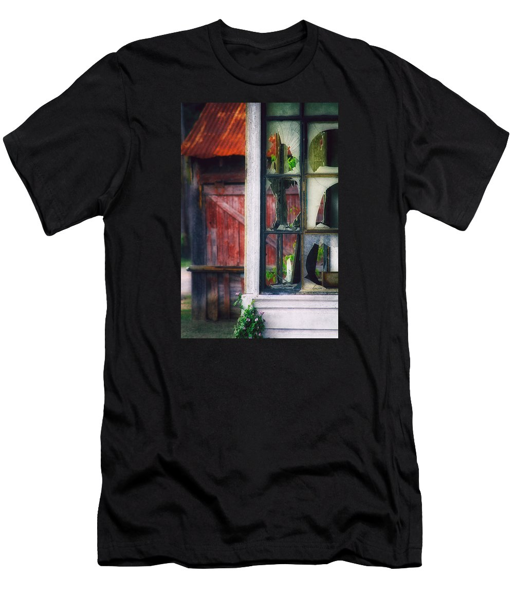 Rust Men's T-Shirt (Athletic Fit) featuring the photograph Corner Store by Daniel George