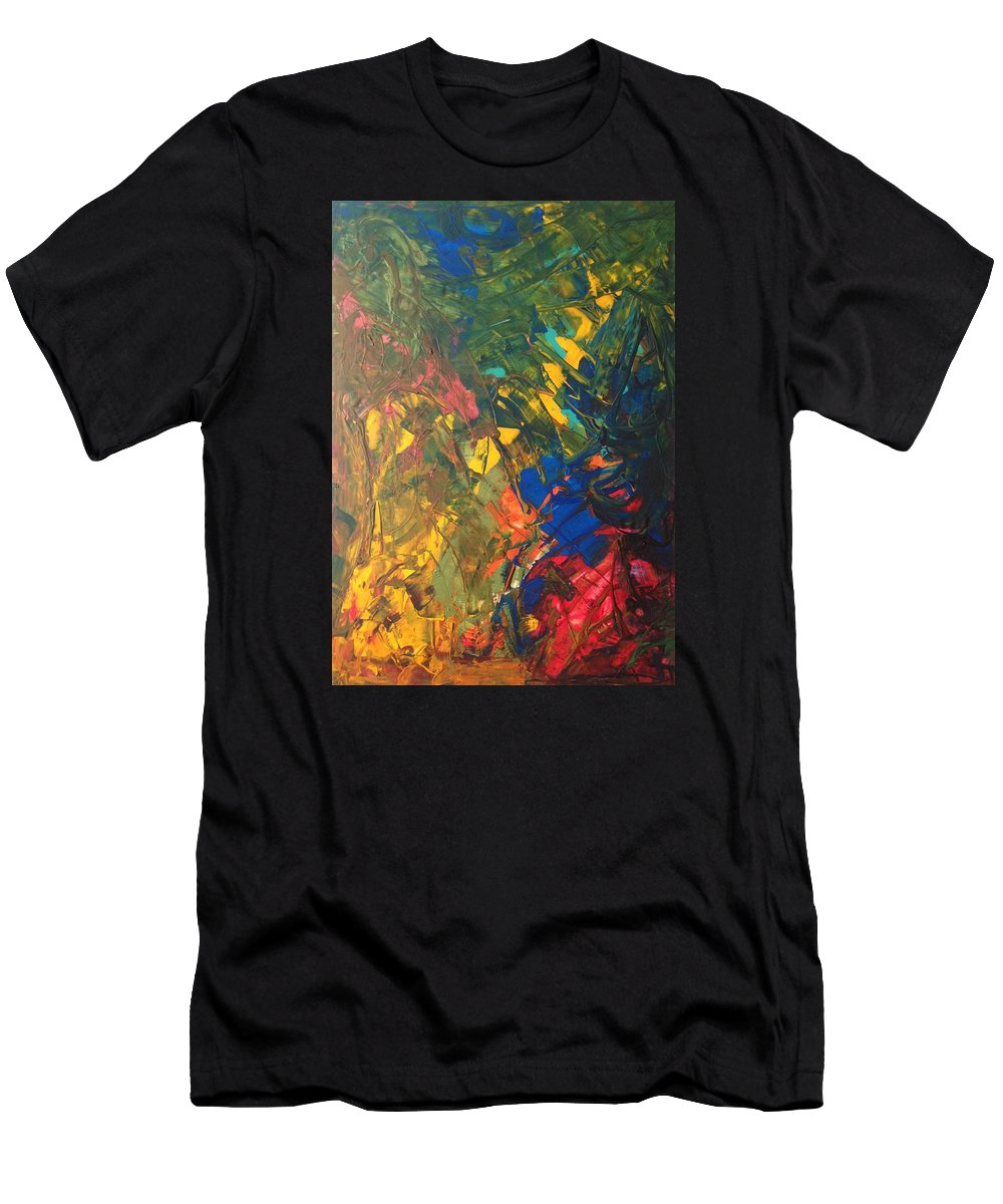 Abstract Art Men's T-Shirt (Athletic Fit) featuring the painting Corot 7b by John Dossman