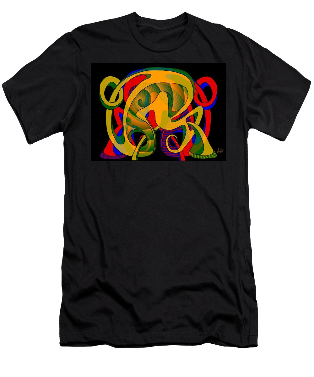 Life T-Shirt featuring the digital art Corresponding independent Lifes by Helmut Rottler