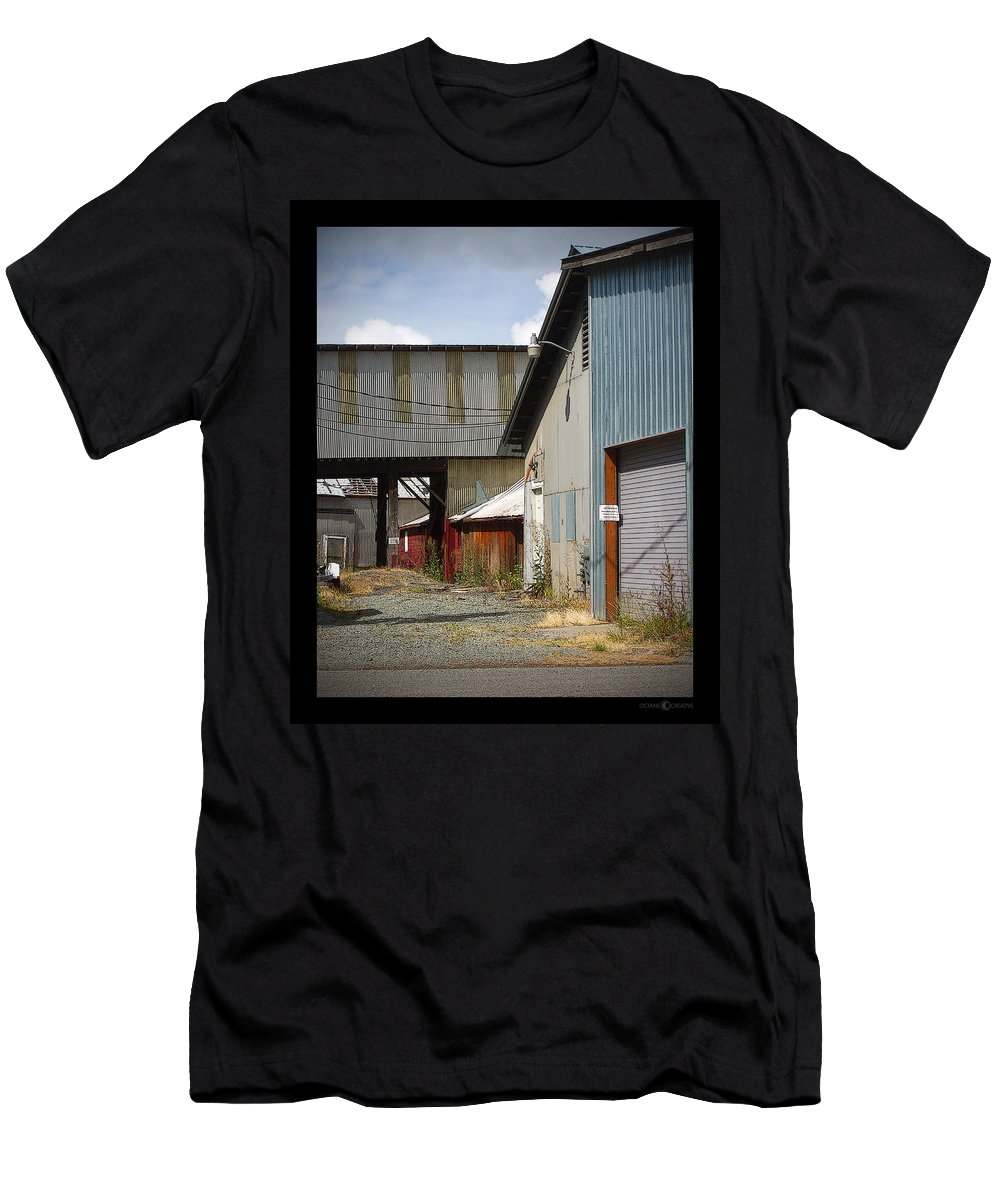 Corrugated Men's T-Shirt (Athletic Fit) featuring the photograph Corrugated by Tim Nyberg