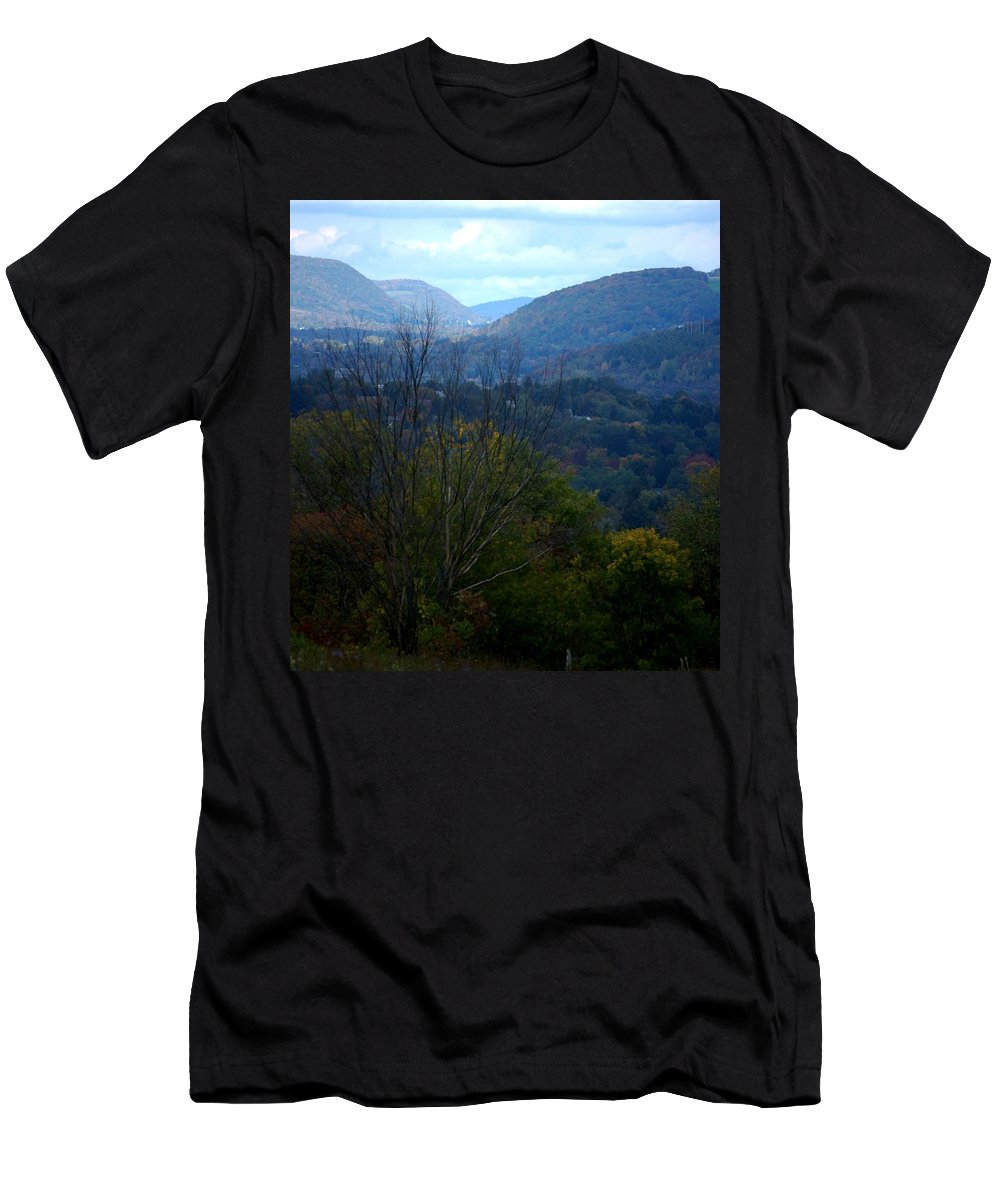 Digital Photograph Men's T-Shirt (Athletic Fit) featuring the photograph Cortland Ny by David Lane