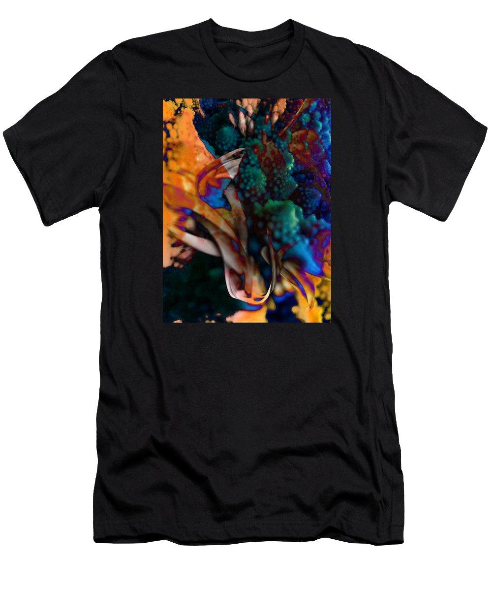 Flower Men's T-Shirt (Athletic Fit) featuring the digital art Cosmic Flower by Anastasiia Klymenko