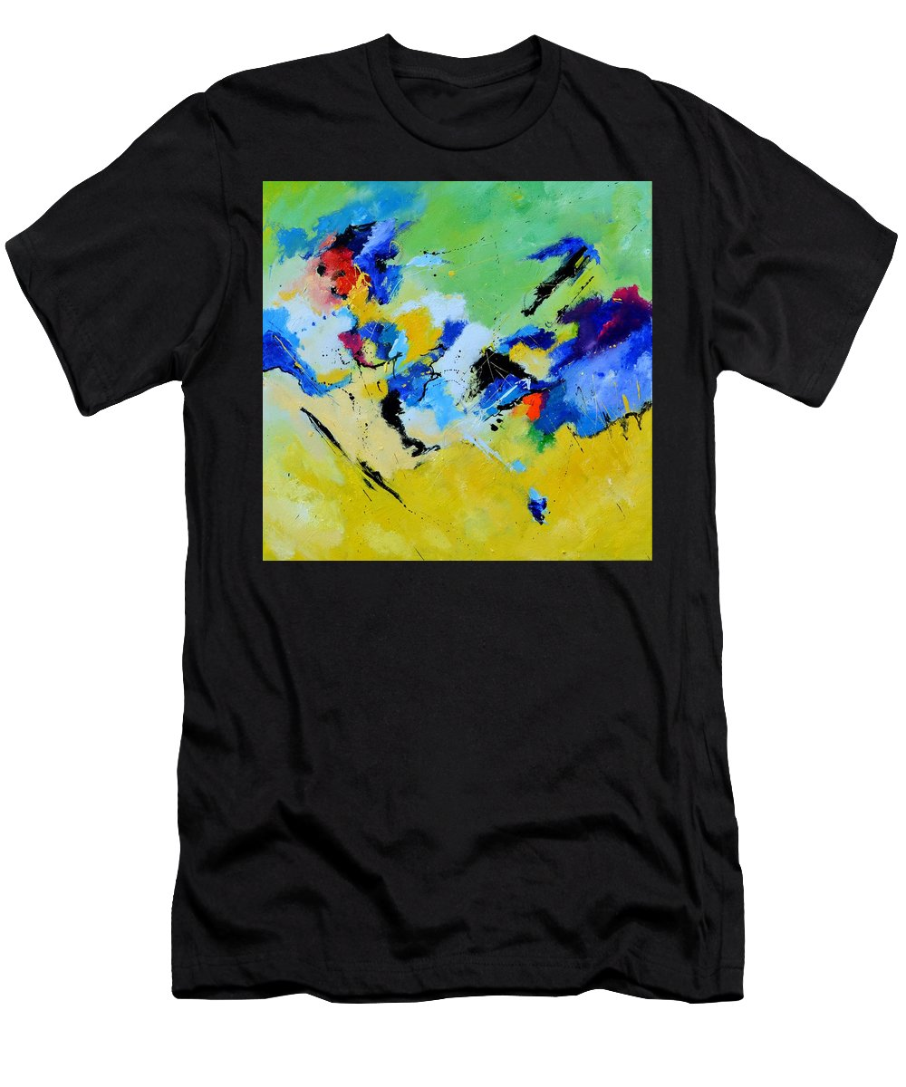 Abstract Men's T-Shirt (Athletic Fit) featuring the painting Cosmic Struggle by Pol Ledent