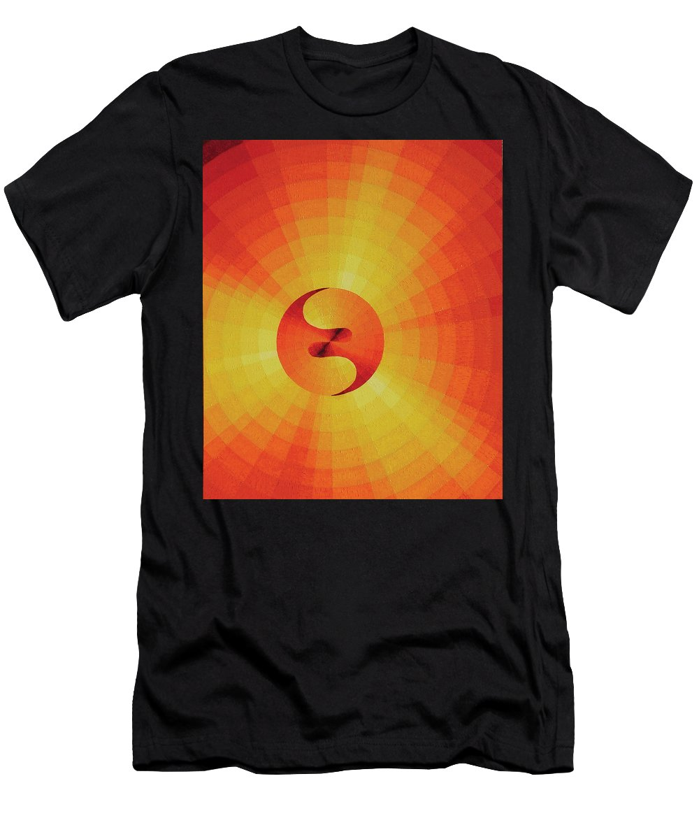 Oil Men's T-Shirt (Athletic Fit) featuring the painting Cosmogenesis by Peter Antos