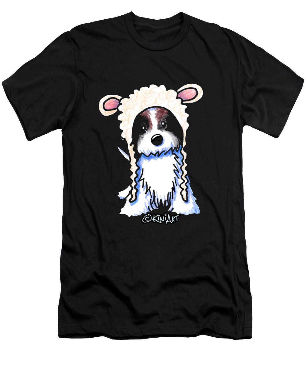 Coton Men's T-Shirt (Athletic Fit) featuring the drawing Coton De Tulear by Kim Niles