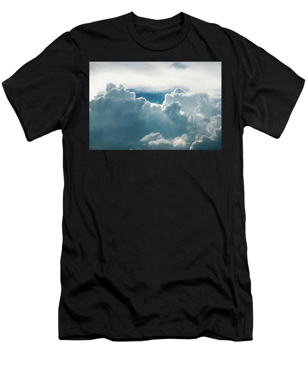 Clouds Men's T-Shirt (Athletic Fit) featuring the photograph Cotton Clouds by Marc Wieland