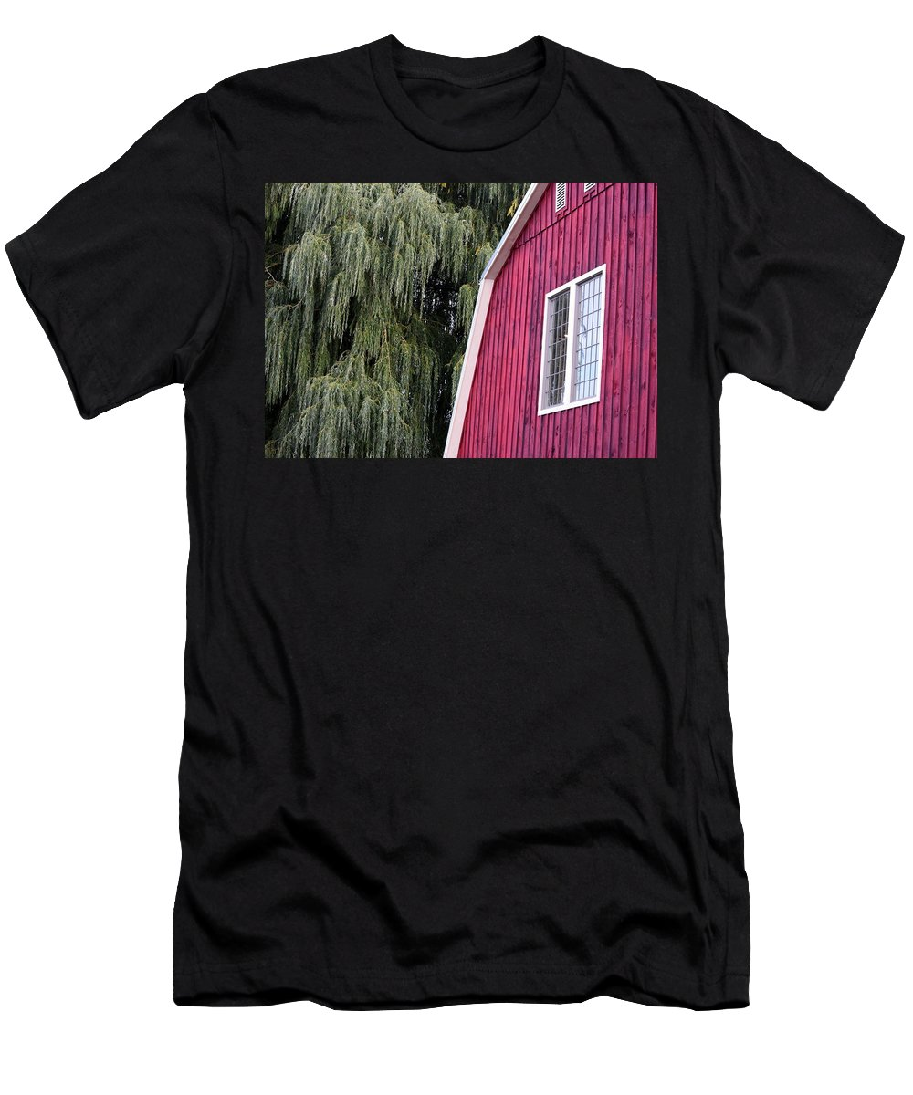 Barn Men's T-Shirt (Athletic Fit) featuring the photograph Country Barn by Joseph C Santos