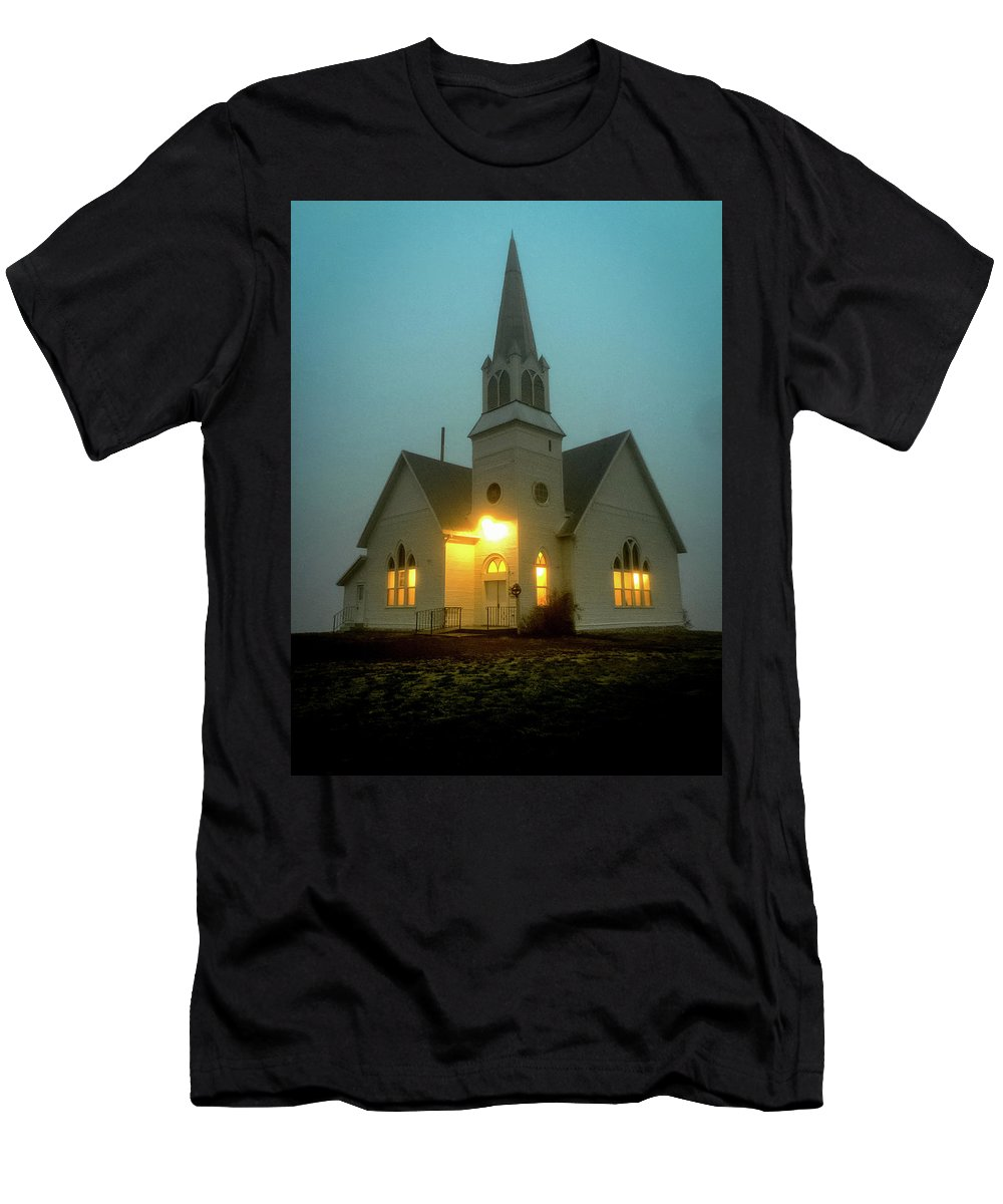 Church Men's T-Shirt (Athletic Fit) featuring the photograph Country Church by Ben McLachlan