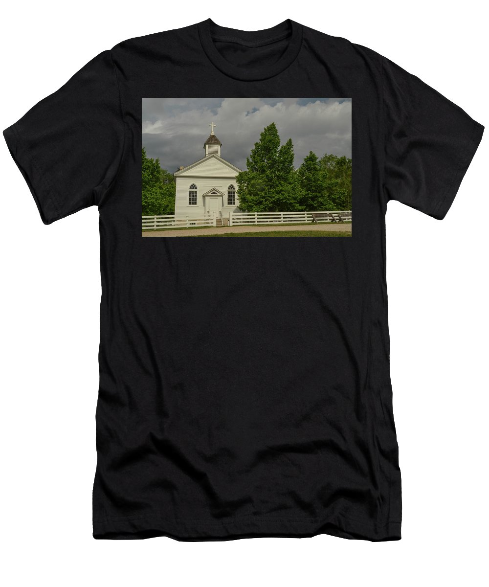 Church Men's T-Shirt (Athletic Fit) featuring the photograph Country Church by Robert Coffey