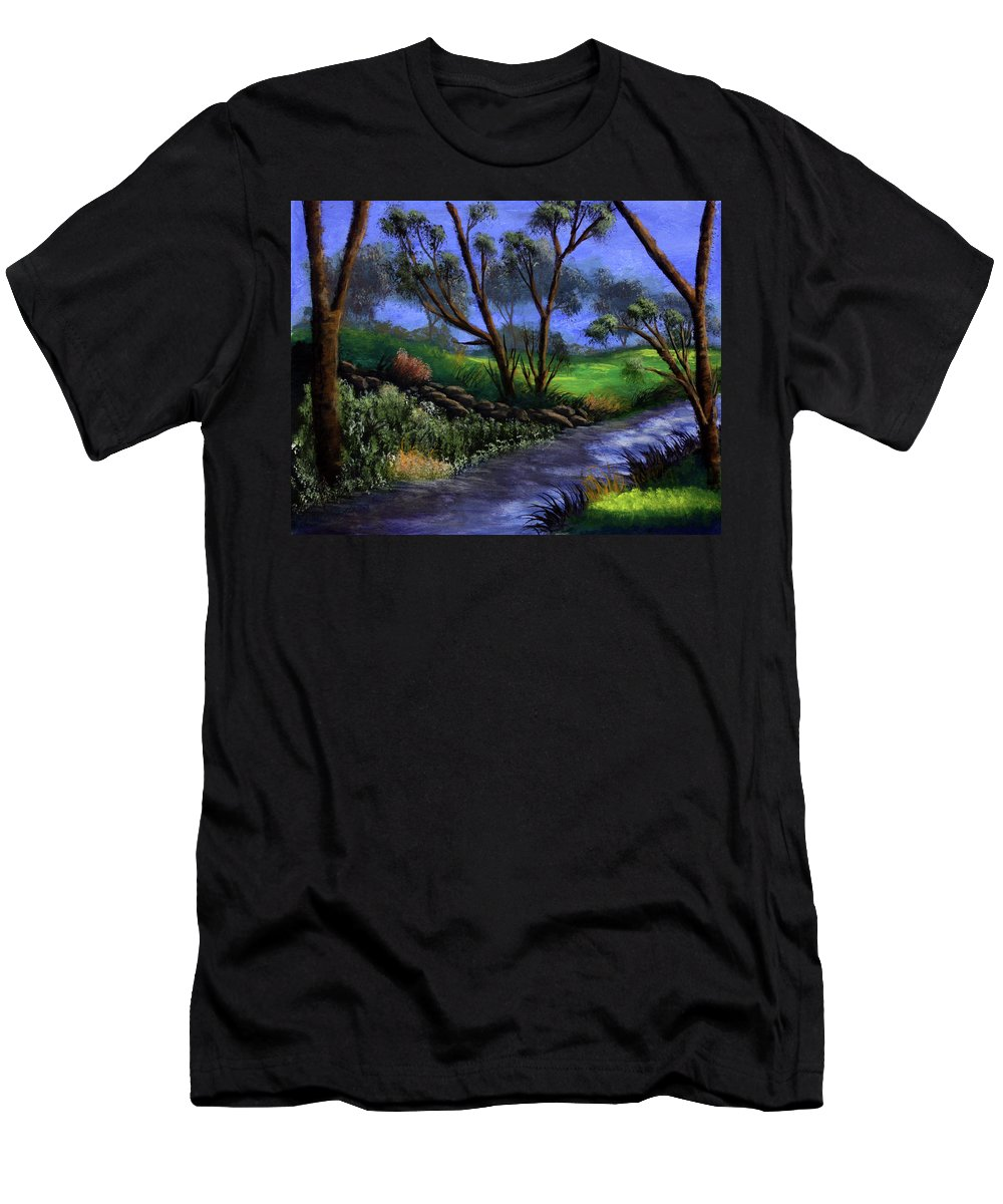 Country Club Men's T-Shirt (Athletic Fit) featuring the painting Country Club View by Dawn Blair