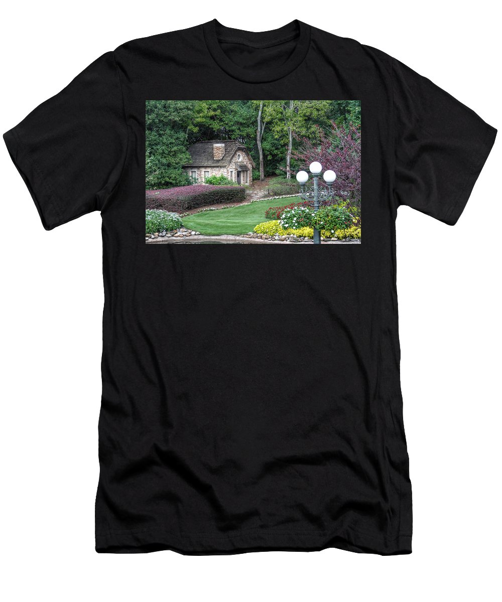Cottage Men's T-Shirt (Athletic Fit) featuring the photograph Country Cottage by Jackson Pearson