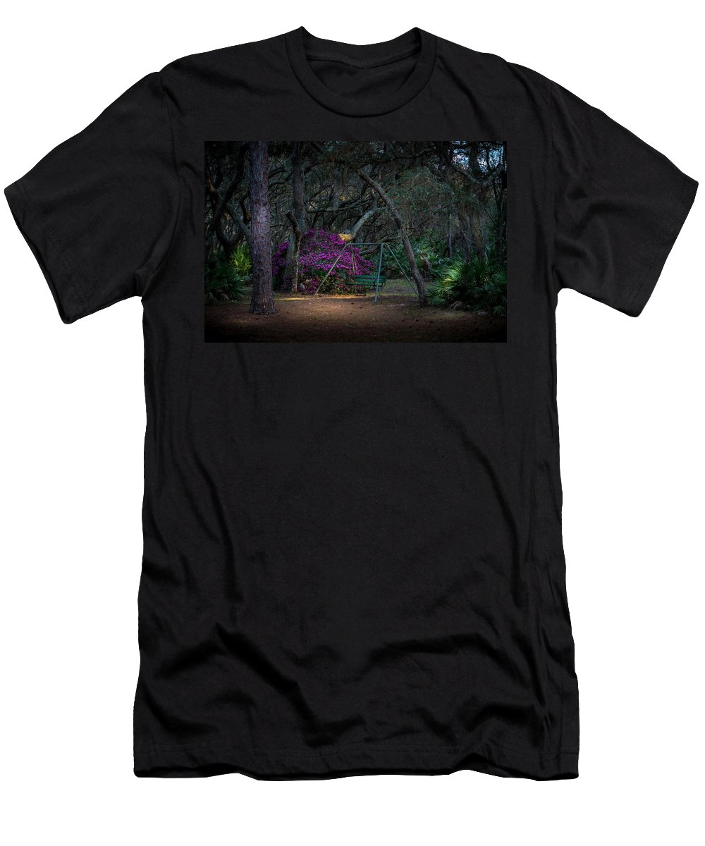Booker Creek Men's T-Shirt (Athletic Fit) featuring the photograph Country Swing by Marvin Spates