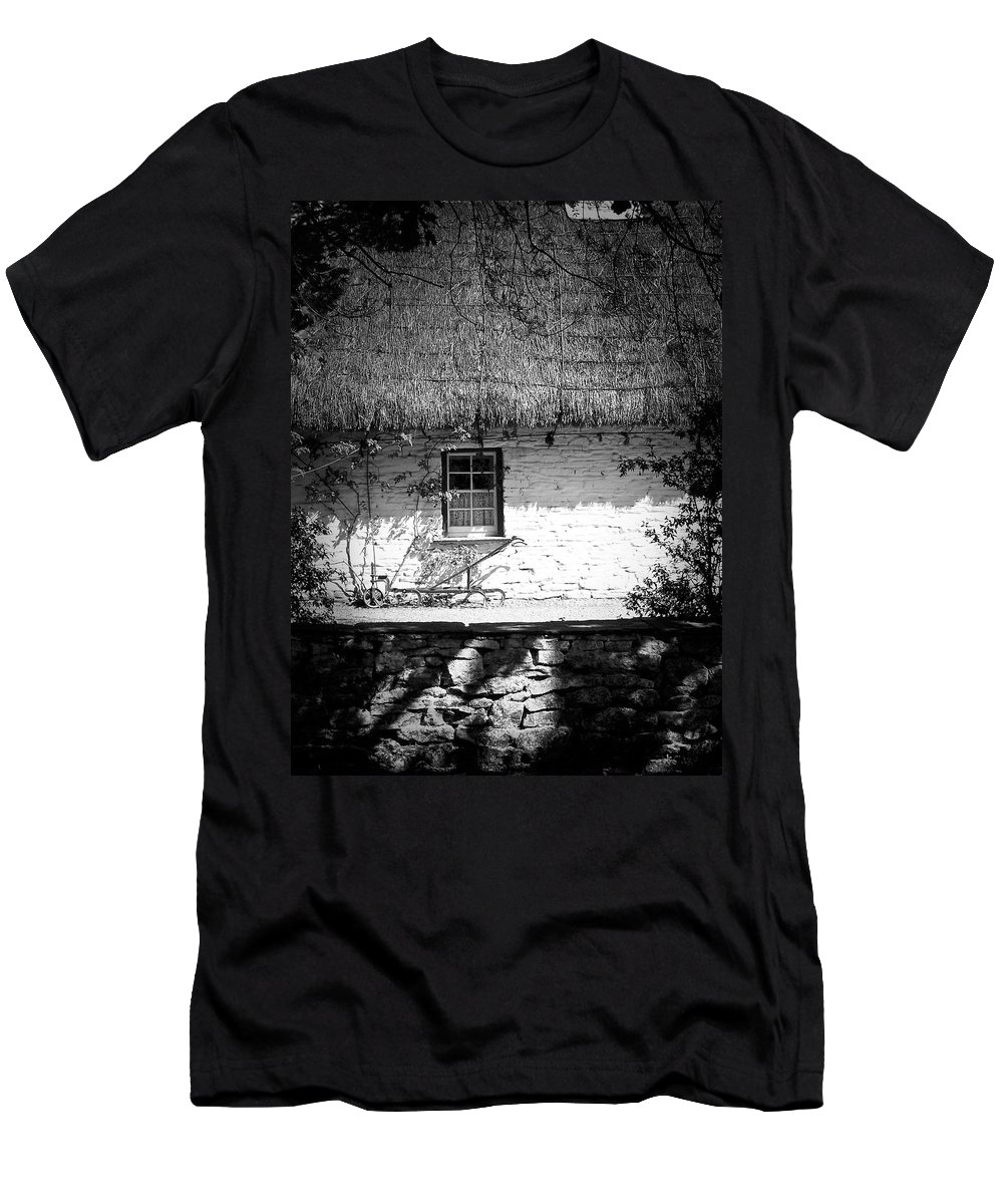 Irish Men's T-Shirt (Athletic Fit) featuring the photograph County Clare Cottage Ireland by Teresa Mucha