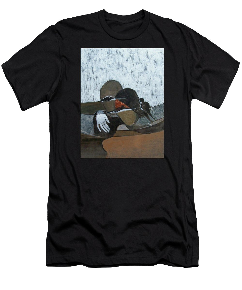 Figurative Men's T-Shirt (Athletic Fit) featuring the painting Couple by Vaishali Bagul