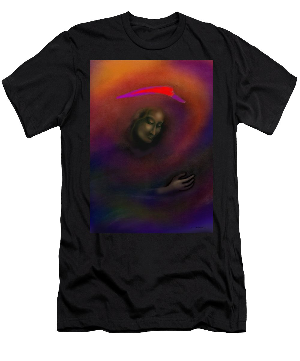 She Men's T-Shirt (Athletic Fit) featuring the painting Courage To Create by Kevin Middleton