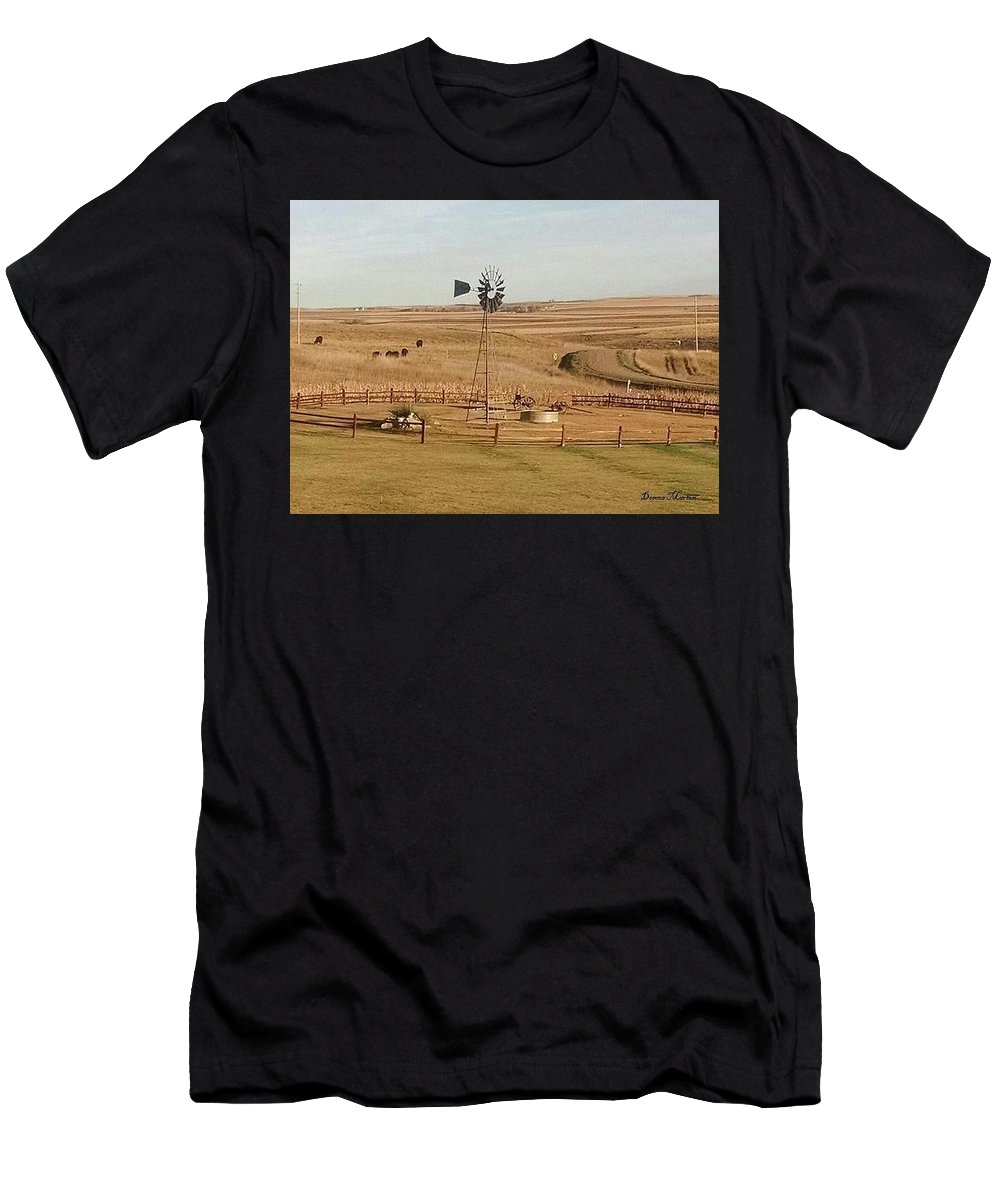 Men's T-Shirt (Athletic Fit) featuring the photograph Coutryside by Donna Martin